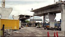 J3475 : Weir and cross-harbour bridges, Belfast (70) by Albert Bridge