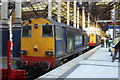 TQ3381 : Diesel locomotives in Liverpool Street Station by Roger Templeman