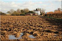 SK8159 : Langford Crossing Gatehouse by Richard Croft