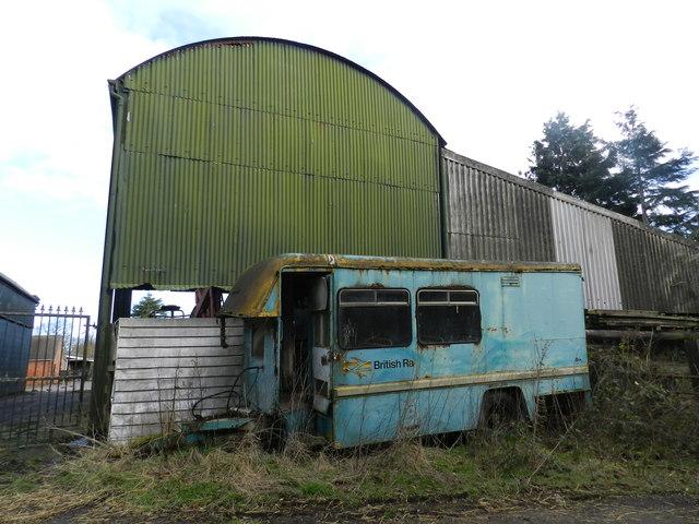 Trailer, road, former property of British Rail