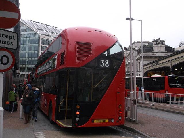 The Boris Bus comes into Victoria Bus Station (2)