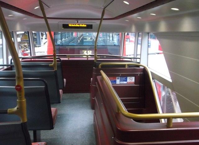 Top Deck of the Boris Bus, Victoria Bus Station