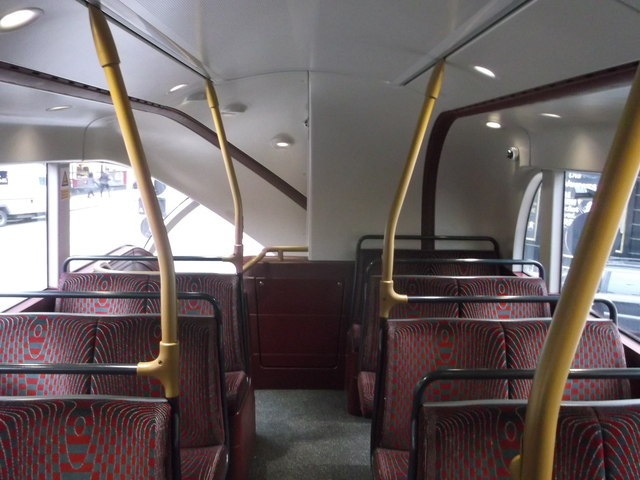 Top Deck of the Boris Bus - rear view, Victoria Bus Station