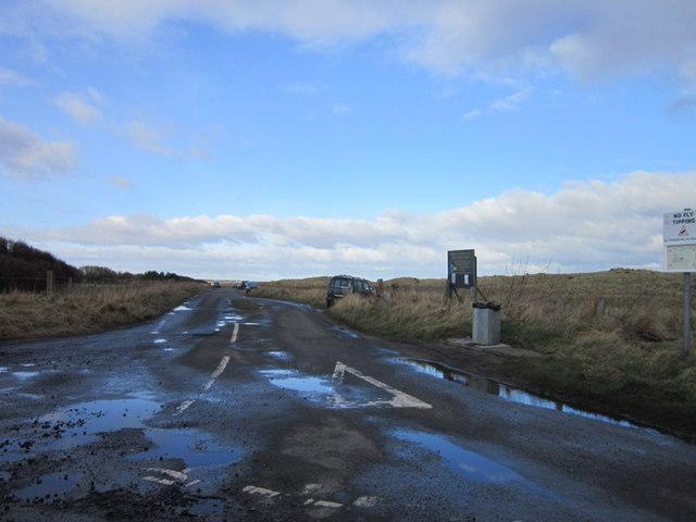 The road leading to Druridge Links
