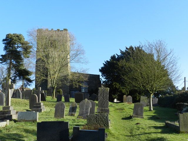 Church, churchyard and yew tree