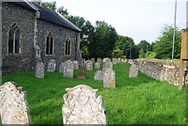 TG1807 : Gravestones, Church of St Andrew by N Chadwick