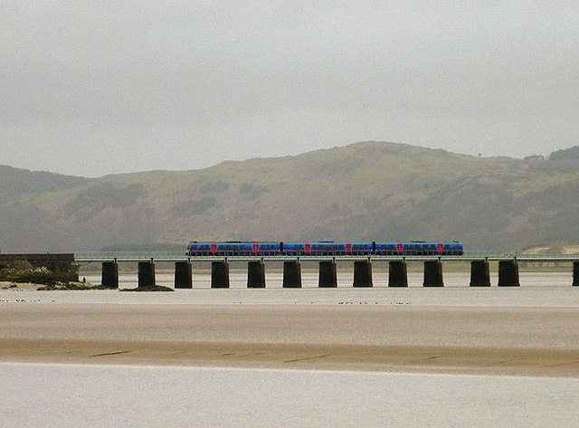 A train on the Leven Viaduct