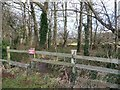 SE4542 : Private property sign on school's roadside fence by Christine Johnstone