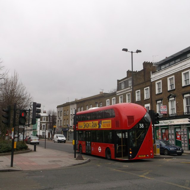 Boris Bus on Ball's Pond Road, Islington