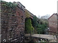 SO6606 : Western side of a disused railway viaduct, Blakeney by Jaggery