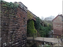 SO6606 : Western side of a disused railway viaduct, Blakeney by Jaggery