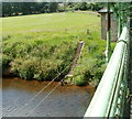 SO3405 : Steps down to the River Usk at Chain Bridge, Monmouthshire by Jaggery