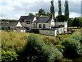 SO3405 : The Chainbridge Inn viewed from the Chain Bridge,  Kemeys Commander by Jaggery