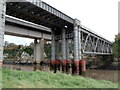 ST5394 : Railway bridge across the Wye, Chepstow by Jaggery