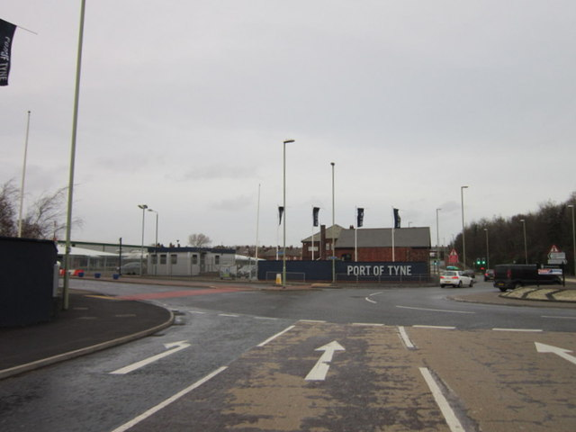 The Port of Tyne from Jarrow Road
