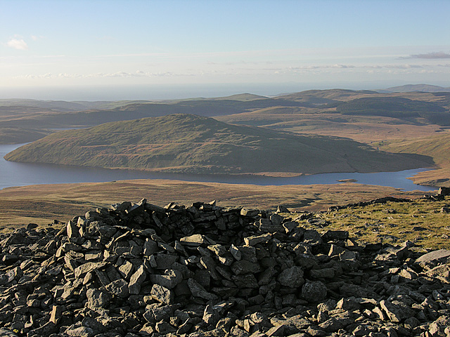Shelter cairn on Pumlumon Fawr by Nigel Brown