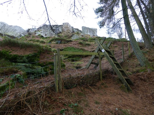 Stile on climb up to fort