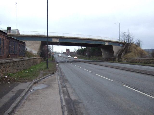 Bridge over Greens Way (A6023)