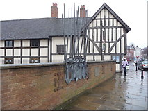 SO8554 : Memorial to the Battle of Worcester by Jeremy Bolwell