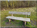 SJ5190 : Memorial Seat, Sutton Manor Woodlands by David Dixon