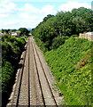 SO3204 : Railway through Penperlleni by Jaggery