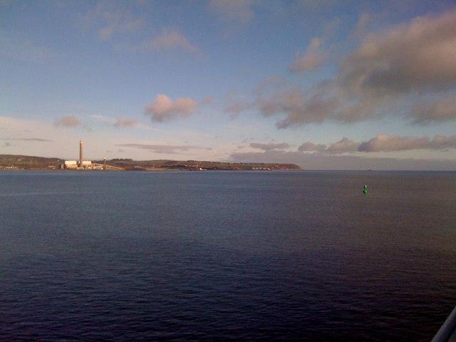 The Irish Sea near Killroot Power Station