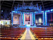 SJ3590 : Interior of Liverpool Metropolitan Cathedral by William Starkey