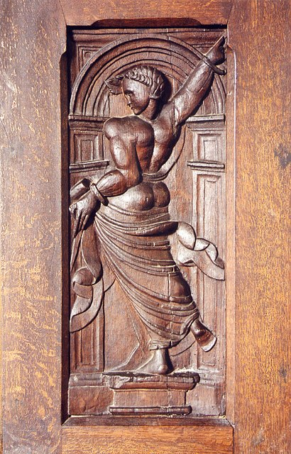 St James, Kinnersley - Panel in pulpit