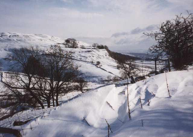 Snowdrift by the Coverdale road