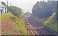 NS9619 : Site of Crawford station, WCML 1991 by Ben Brooksbank
