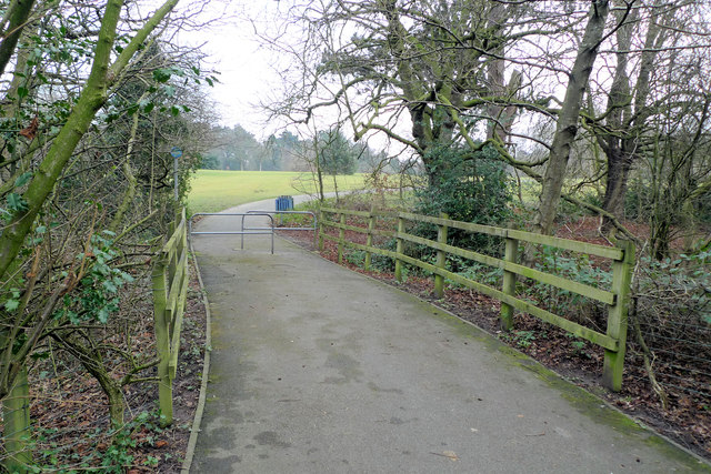 Access path to Bruntwood Park
