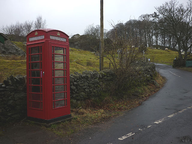 The 'Withnail and I' telephone box, Bampton