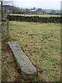 NY5118 : Fallen granite gatepost, Bampton by Karl and Ali