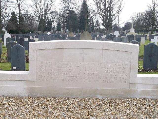 HMS Bulwark and HMS Irene War Memorial, Woodlands Road Cemetery