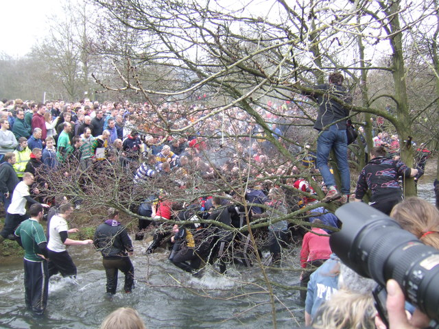 Royal Shrovetide crossing the Henmore Brook