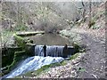 SD9625 : Small millpond on Ingham Clough by Humphrey Bolton