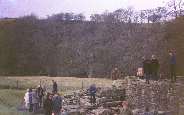 Hadrian's Wall at Willowford, 1969