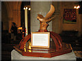 TQ2856 : Font cover of St Margaret's church, Chipstead by Stephen Craven