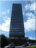 SK3487 : University Arts Tower, viewed from Bolsover Street, Sheffield by Terry Robinson
