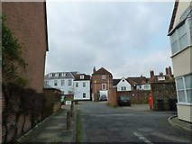 SU8605 : Looking from Priory Lane towards the rear of premises in North Street by Basher Eyre
