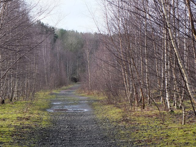 Former railway into Bilston Glen Colliery