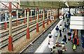 SJ7154 : Crewe Station: southward on main Down Platform 6, 1986 by Ben Brooksbank