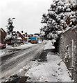 ST3091 : British Gas van in snowy Harding Avenue, Malpas, Newport by Jaggery
