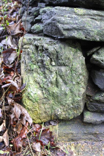 Benchmark on wall angle, Frilford Road