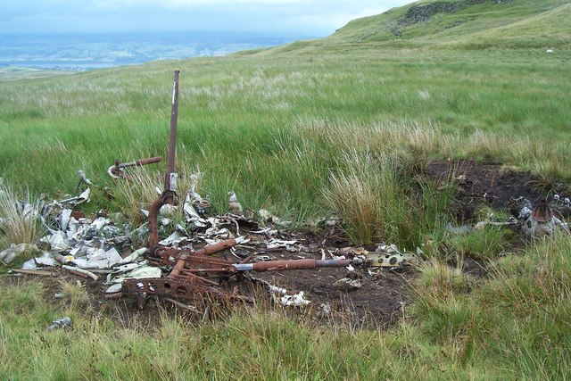 Avro Anson Remains Near Lairdside Hill