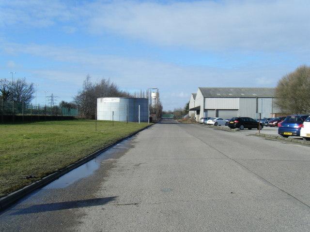 Industrial premises looking towards North Road