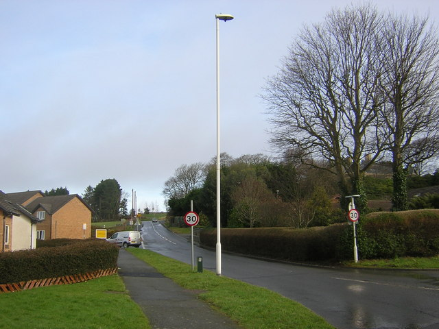 Penglais: junction leading to Clanarch and Llangorwen