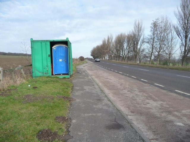 Portaloo on a northbound lay-by, the A61