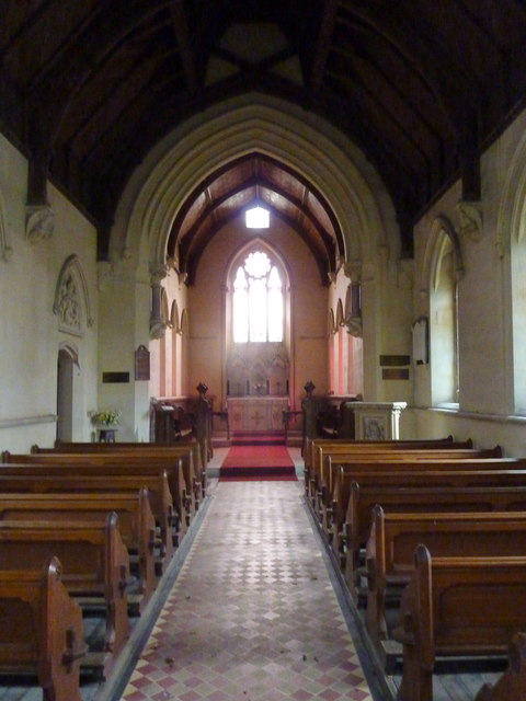 Nave and chancel of St. Catharine's church, Kingsdown