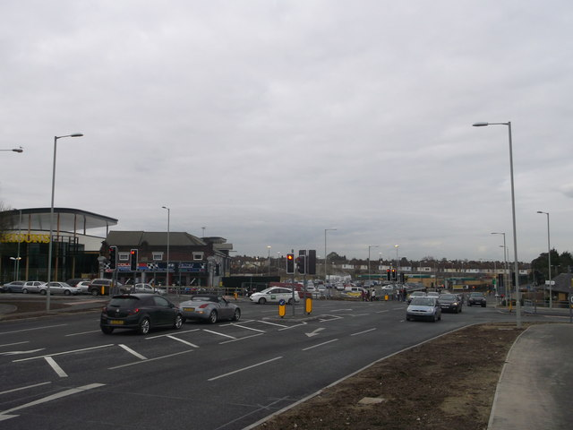 Mill Way, Eurolink Way, The Wall and Milton Road junction, Sittingbourne